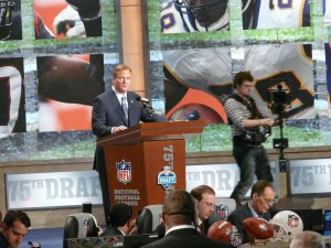 The 2015 NFL Draft will be held April 30-May 2 at the Auditorium Theatre of Roosevelt University.  Events like these are increasing tourism in Chicago.  Photo by Marianne O'Leary