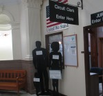 Woodford Courthouse silhouettes highlight sexual assault awareness