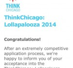 Open Applications for ThinkChicago: Lollapalooza 2015