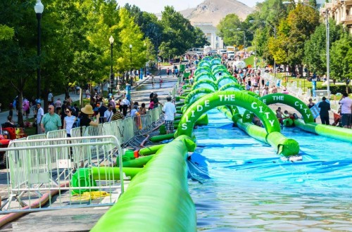 Algonquin and the giant water slide
