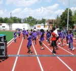 Ribbon cut on Lindblom Park's new track and field