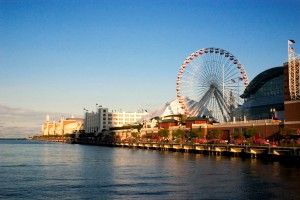 Navy Pier in Chicago is a destination for tourists. Photo by David Bjorgen
