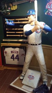 After attending a party at Club 400, Cubs owner Tom Ricketts commissioned this life size Bobblehead of All-Star first basemen Anthony Rizzo and sent it to Club 400. It is the only one of its kind. (Photo by Paul Johnson for Chronicle Media)
