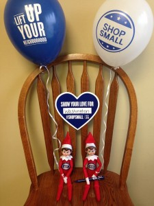 George and Martha, the Washington Chamber of Commerce' 's Elf on the Shelf couple, are returning to the city of Washington for the upcoming holidays. They will be visiting different businesses each day so they can report to Santa about people shopping small all holiday season. (Photo courtesy Washington Chamber of Commerce)