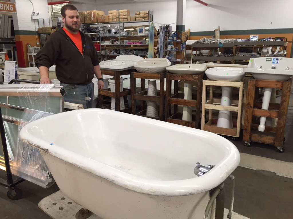 Converting Things From Trash To Treasure At Habitat Store - Bathroom fixtures chicago