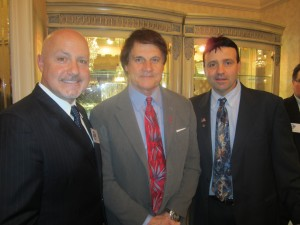 Pete  Caliendo (from right), Tony La Russa and Nationals GM Mike Rizzo, a Chicago Northwest Side native.