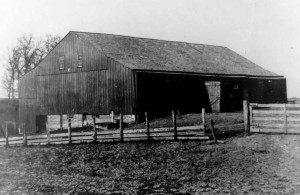 This photo of the 176-year-old Davidson barn was likely taken more than 100 years ago, according to Steve Colburn, president of the nonprofit Barnstorming group that is leading an effort to restore the barn as a community center. (Photo courtesy of Steve Colburn/Barnstorming)