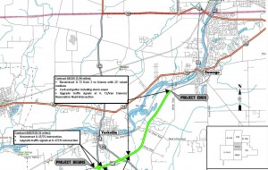 The state's major construction project along IL Route 71 and work along Route 34 has affected traffic for a few years in eastern Kendall County, including Yorkville. (Illinois Department of Transportation map)