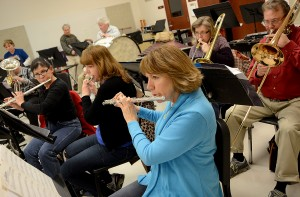 Sandwich High School alum and flute player Deb Kell appreciates the opportunity the Indian Valley Community Band provides for her and others to continue their musical interests and talents. Kell serves as secretary and treasurer. (Photo by Steven Buyansky/for Chronicle Media)