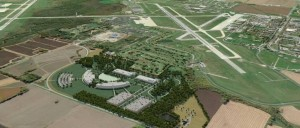 Rendering of the planned new National Geospacial Intelligence Agency (NGA) western headquarters near Scott Air Force Base. (Photo courtesy of National Geospacial Intelligence Agency)