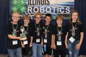 The Kendall County #Awesome team was named the rookie level champion and top table performance at the Illinois 4-H Robotics Competition. (Photo courtesy University of Illinois Extension)