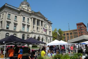 The Downtown Bloomington Farmers Market and Artists' Alley hosts a number of special events throughout the season. (Photo courtesy Downtown Bloomington Association)
