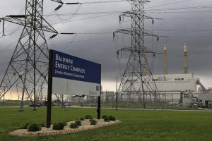 The Houston, Texas-based energy conglomerate Dynergy, Inc., is scheduled to shut down two of the three coal-fired generating units at its Baldwn, Ill. power station over the next 12 months. (Photo courtesy of Dynergy, Inc.)