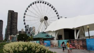 Visitors to Navy Pier could take a break from the races by spending time on the new Ferris Wheel. (Photo by Nick Hanson/for Chronicle Media)