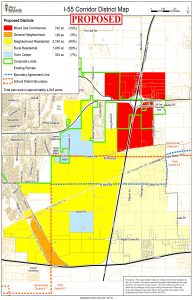 Map of expanded I-55 Development Corridor (Photo courtesy city of Edwardsville)