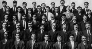 Well known in Peoria, the Itoo Society was founded in July 1914 by this group of 46 immigrants from Aytou, Lebanon, all of whom have descendants still living in Peoria. The society celebrated its 100-year anniversary in 2014 by helping the city of Peoria establish a sister city relationship with Aytou. (Photo courtesy of Itoo Society)