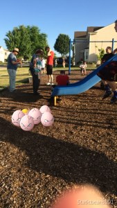 Kids and adults congregate at a Pokestop in a Marengo, Ill. park to catch an Exeggcute. (Photo by Quentin Blais)