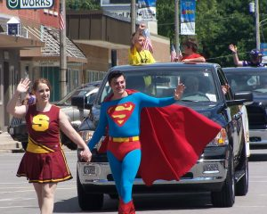 "Smallville Superfest, will be held in downtown Plano, 101 W. Main St. in Aug. 19-21.  The family-friendly festival commemorates the 2011 filming of the blockbuster movie, ""Man of Steel"" in the town. (Photo courtesy of Enjoy Aurora)"
