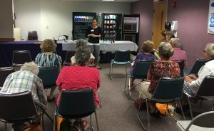 Talking super foods Staci Coussens of the University of Illinois Extension for Woodford County gave demonstrations on ways to incorporate super foods into your menu at Advocate Eureka Hospital's Family Wellness Expo on Aug. 13. (Photo courtesy of Advocate Eureka Hospital)