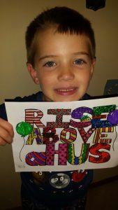 Logan Jennings, 6, of Bloomington (Photo courtesy of Advocate BroMenn)