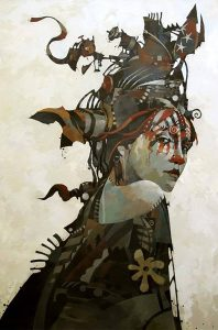 """Among the artwork that will be exhibited and for sale at the Peoria Fine Art Fair is a painting titled """"Lady of Remarkable Secrets"""" by Bruce Holwerda. The fair will feature art, music, food and hands-on art activities for all ages. (Photo courtesy of the Peoria Art Guild)"""