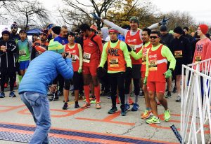 Runners get ready for the state of the race. (Photo by Karie Angell Luc/for Chronicle Media)