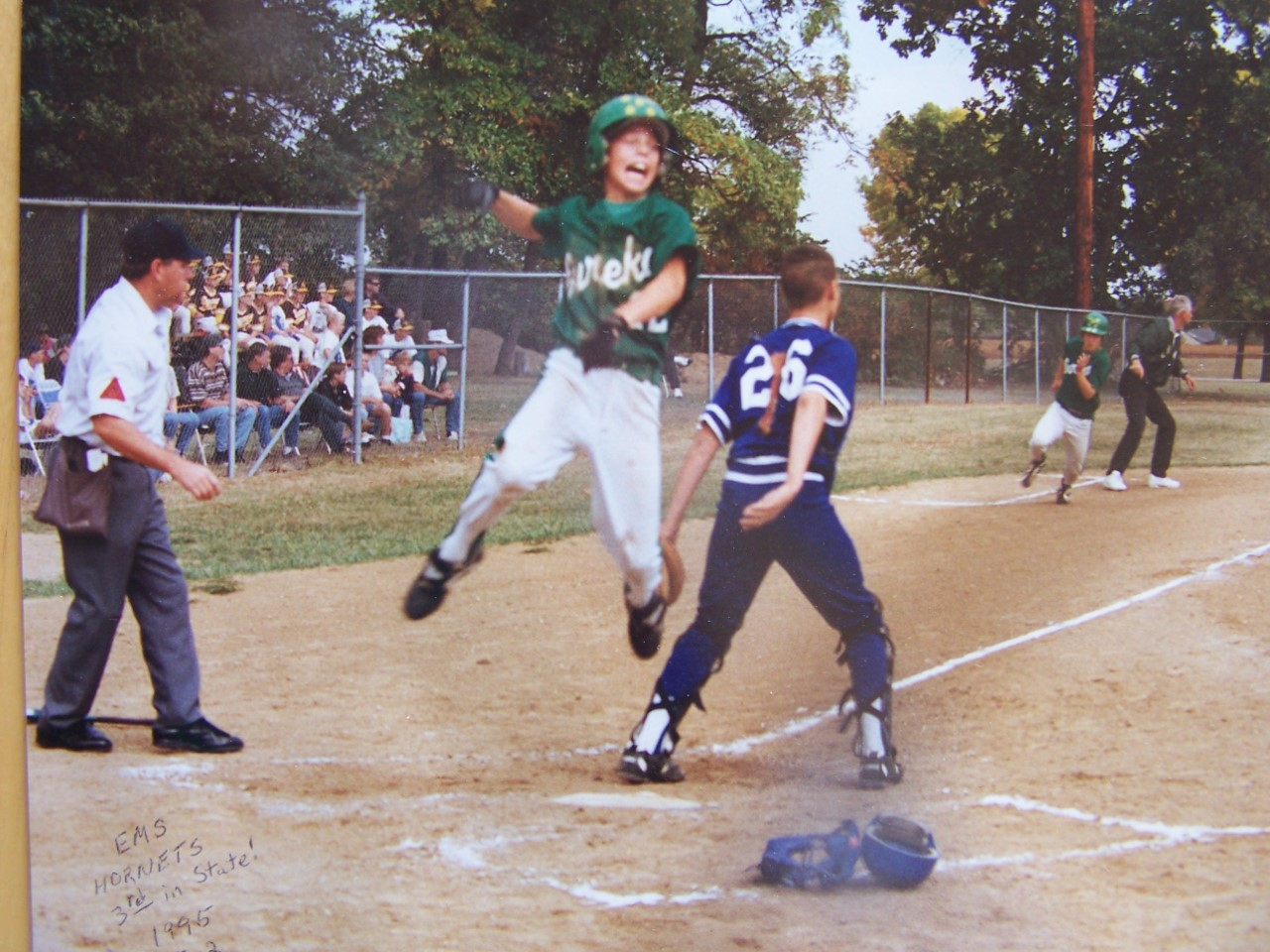 2cdc57dbf07 A young Ben Zobrist heads for home plate as a youth league baseball player  for Eureka