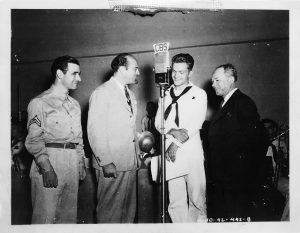 Jack Coombe (second from left) of Northbrook during his tour of duty with the U.S. Navy during World War II. (Photo courtesy of Jack Coombe)