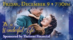 """It's a Wonderful Life"" will be shown at 7:30 p.m. Dec. 9 at the Egyptian Theatre, 135 N. Second St., DeKalb"