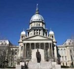 Gov. Rauner reviewing Senate budget bills in Springfield
