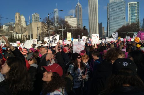 Hundreds of thousands rally for equality in Illinois Women's Marches