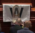 Cubs World Series trophy brings goodwill to General Assembly