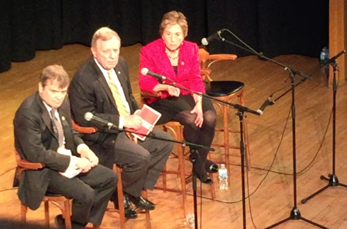 Durbin, Quigley, Schakowsky feel the love at town hall
