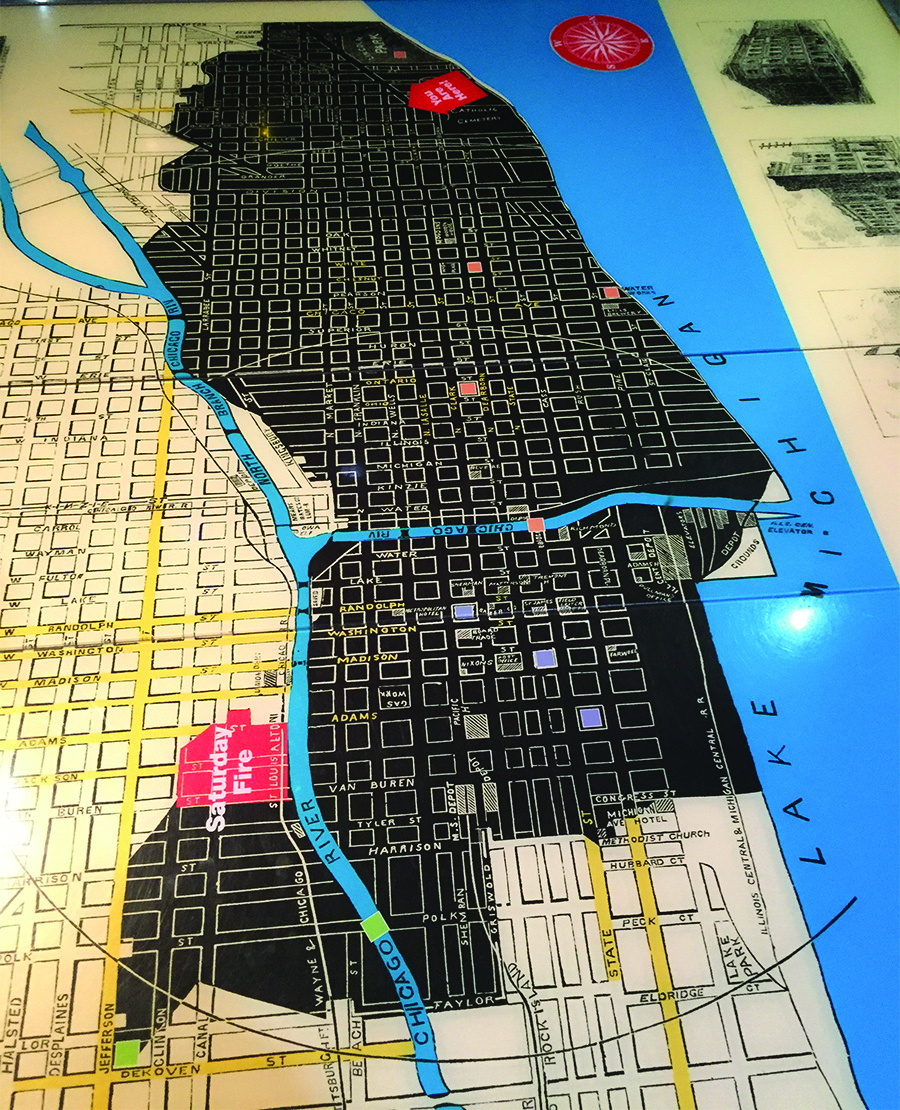 Story Of Chicago And The Region Unfolds At Chicago History Museum - Chicago fire map