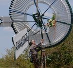 Historic Batavia windmill back where it belongs