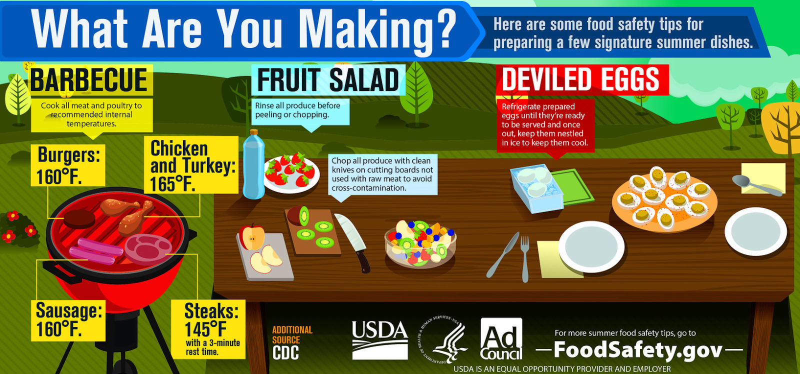 Experts Offer Food Safety Tips For Summer Eating
