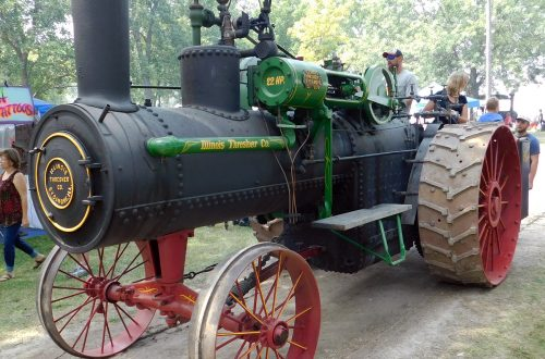 Restored vintage steam-powered tractor showcased at club's annual show
