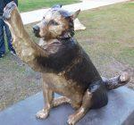 Permanent salute to onetime NIU mascot unveiled outside Huskie Stadium