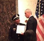 Chicago police hero put in national spotlight