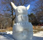 Warm leads to soggy snow sculptures at annual competition