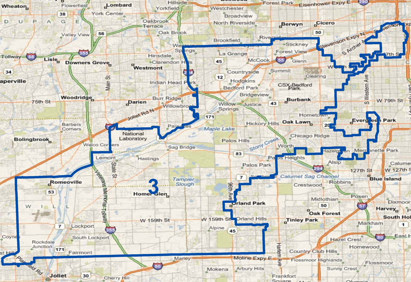 illinois 3rd congressional district - HD1406×966