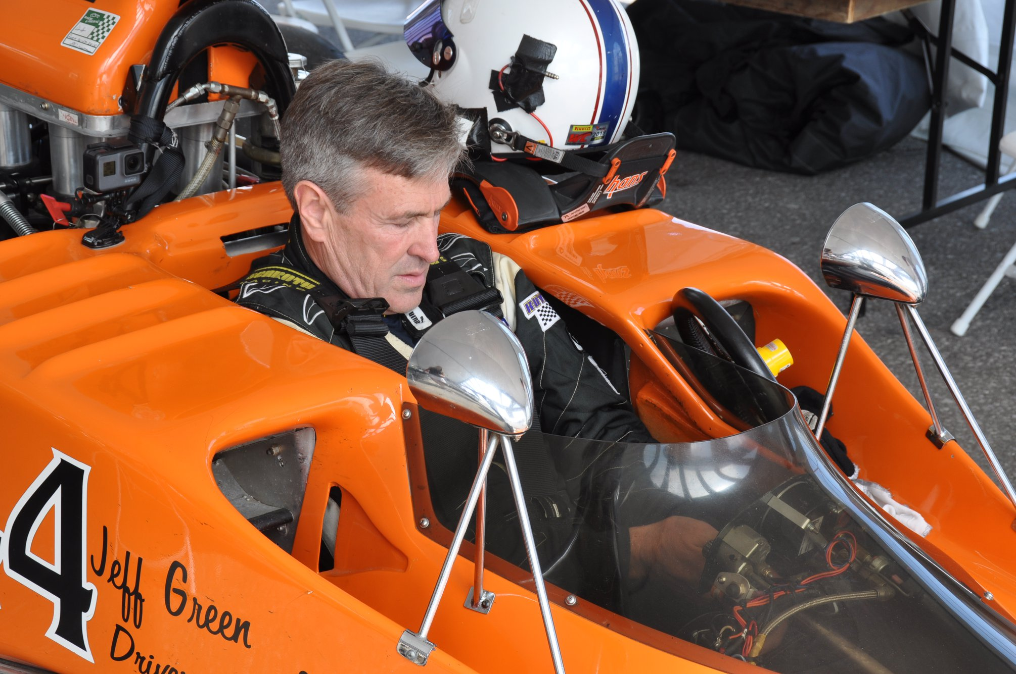In A Photo Taken By Fellow Racecar Driver Doug Barr, Jeff Green Prepared To  Qualify For A Formula 5000 Vintage Race At Canadian Tire Motorsport Park In  ...