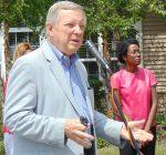 Durbin talks healthcare, nation's political heath at suburban town hall