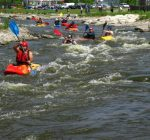 Kayakers take to the water during Yorkville River Fest