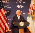 Pence touts tax-cuts in suburban Chicago appearance