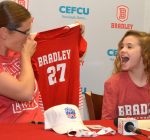 Bradley volleyball team embraces Pekin youth facing life-threatening illness