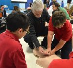 Quick thinking, CPR helped save life of St. Edward principal