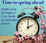Remember to set your clocks