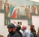 'Lost' 80-year-old mural is back on display at Aurora school