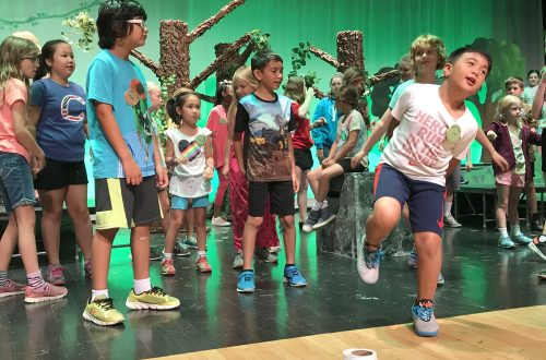 Kids at Sycamore summer camp immersed in theater experience